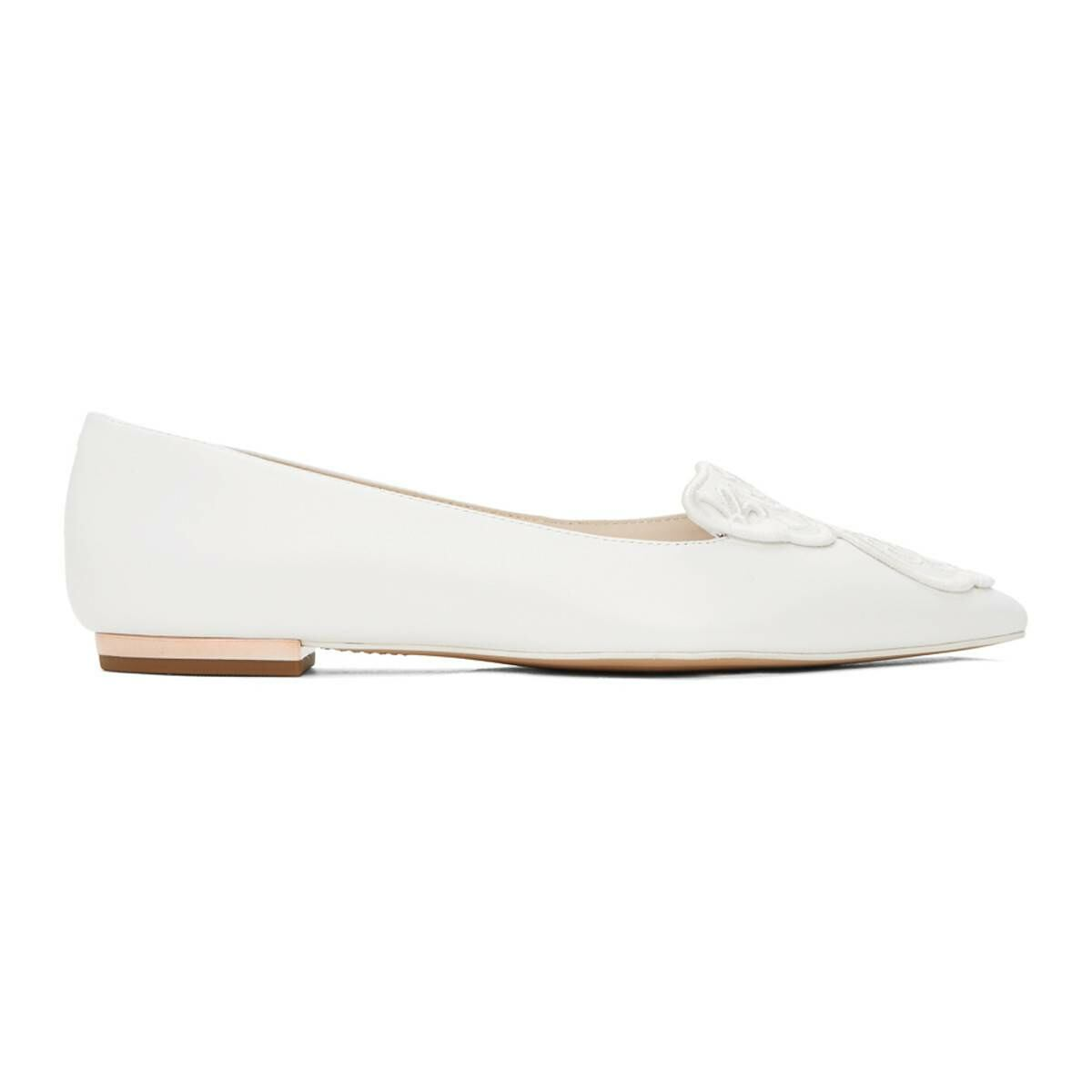 Sophia Webster White Bibi Butterfly Flats Ssense USA WOMEN Women SHOES Womens BALLERINAS