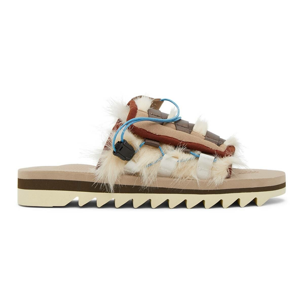 Suicoke Beige DAO-3 Sandals Ssense USA MEN Men SHOES Mens SANDALS