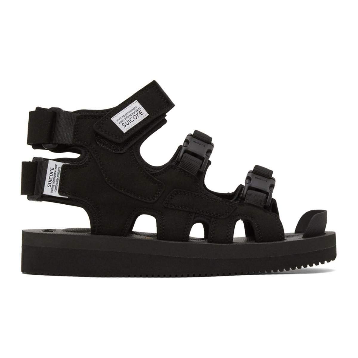 Suicoke Black Boak-V High Top Sandals Ssense USA MEN Men SHOES Mens SANDALS