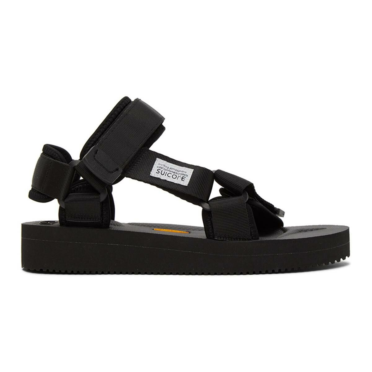 Suicoke Black DEPA V2 Sandals Ssense USA MEN Men SHOES Mens SANDALS