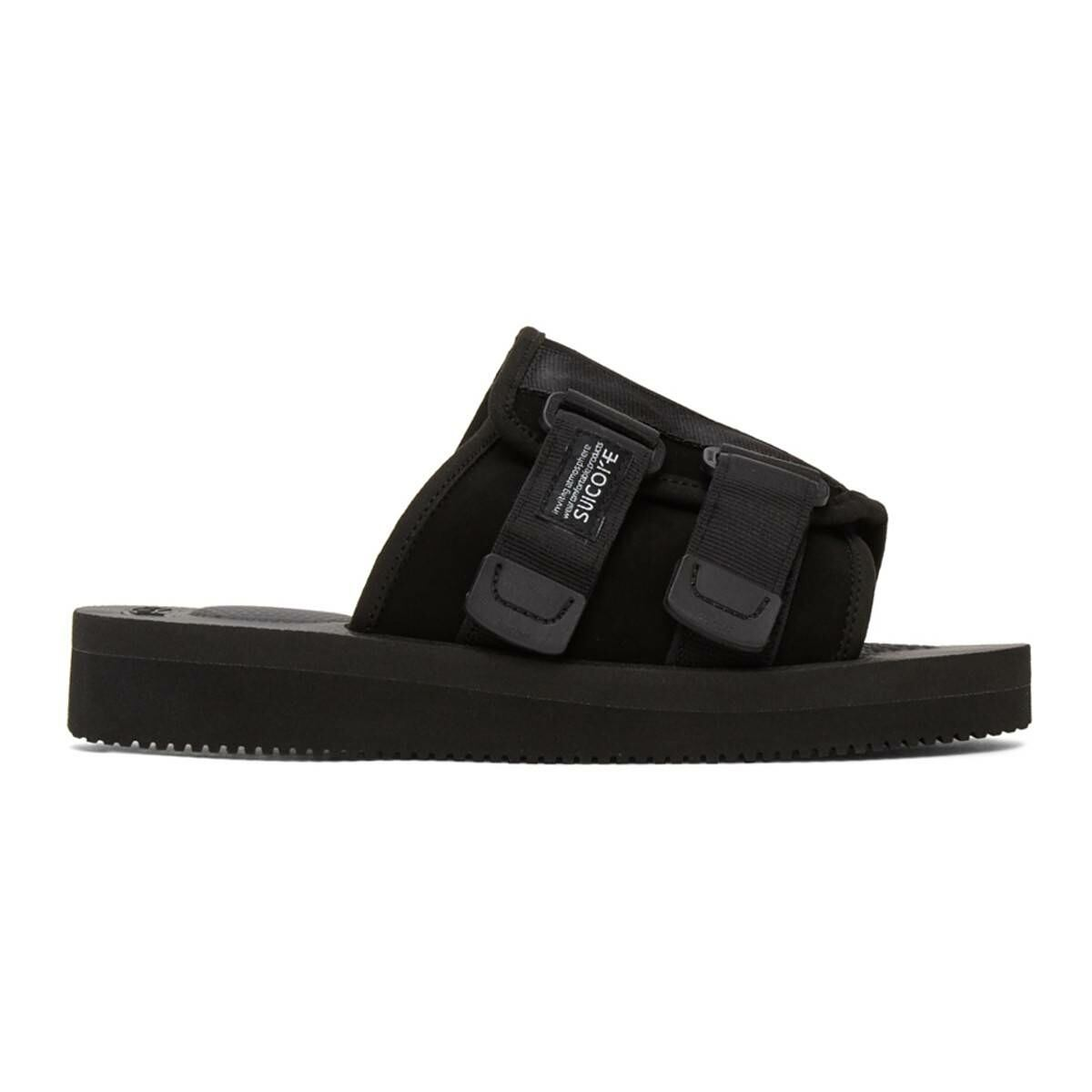 Suicoke Black Kaw-VS Sandals Ssense USA MEN Men SHOES Mens SANDALS