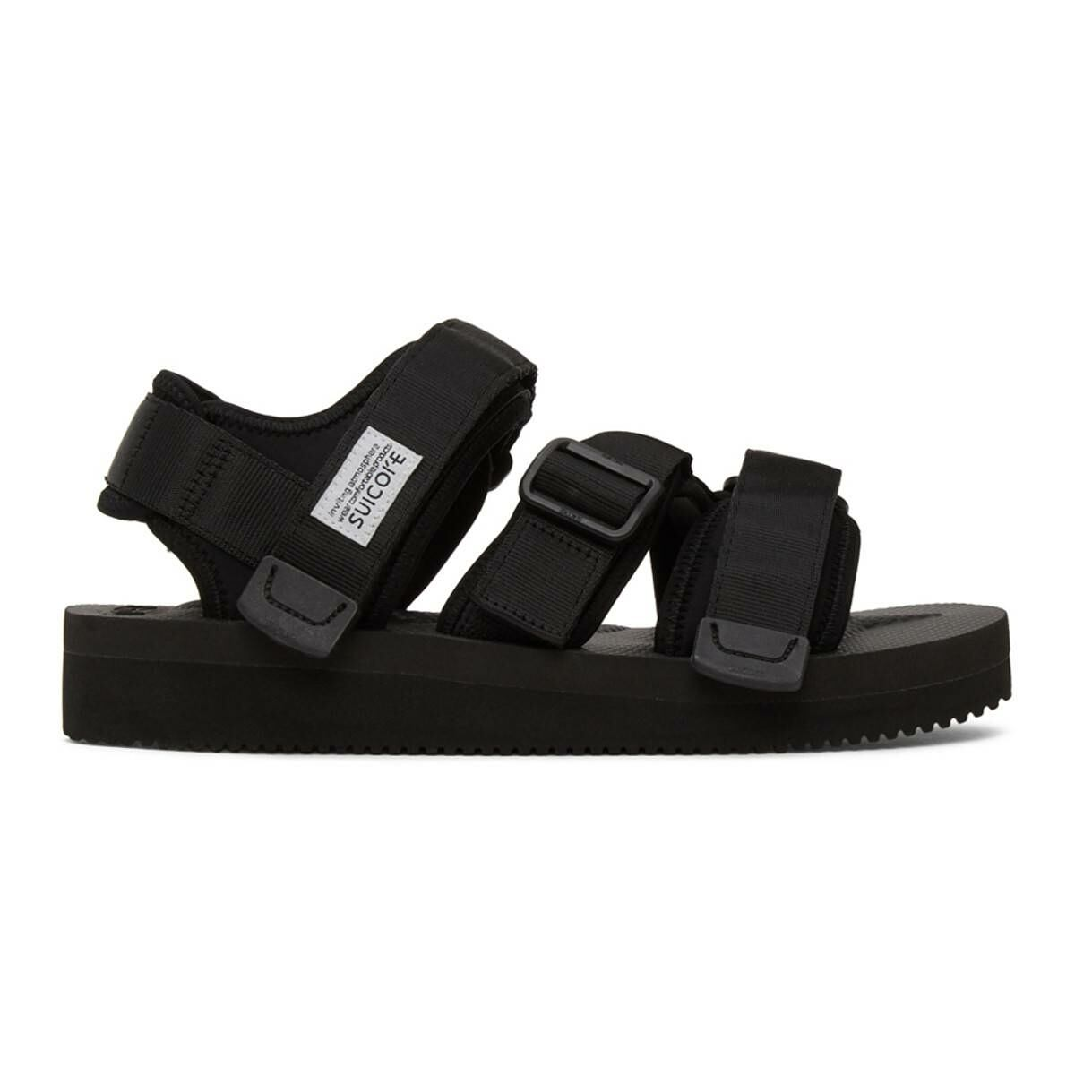 Suicoke Black Kisee-V Sandals Ssense USA MEN Men SHOES Mens SANDALS