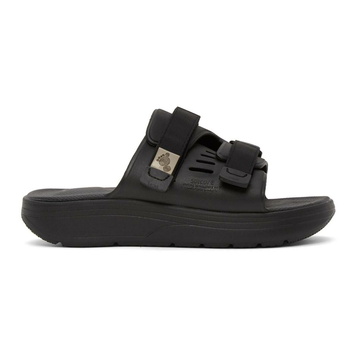 Suicoke Black Urich Sandals Ssense USA MEN Men SHOES Mens SANDALS