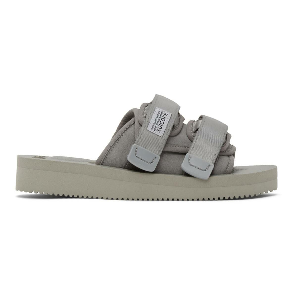 Suicoke Grey Moto-VS Sandals Ssense USA MEN Men SHOES Mens SANDALS