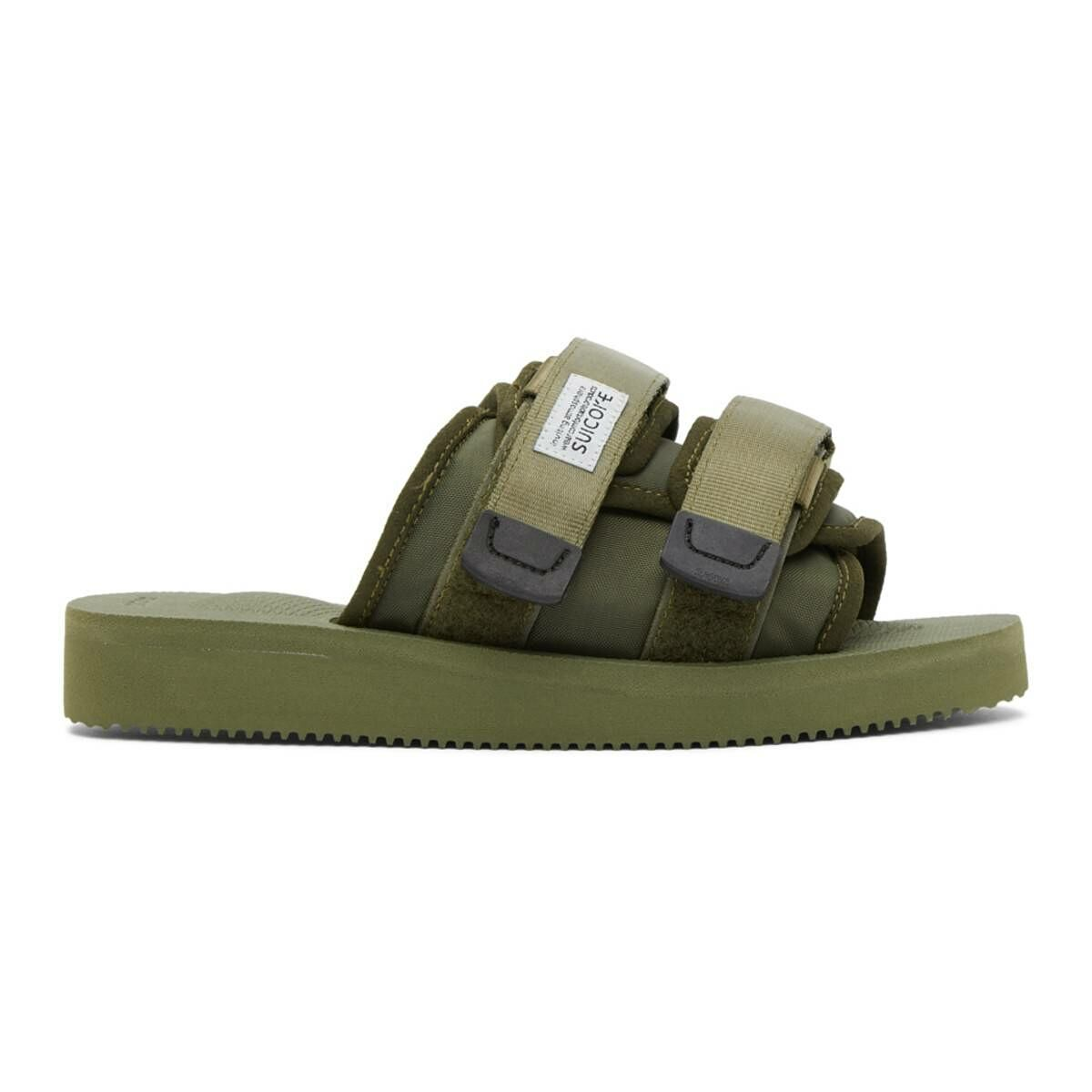 Suicoke Khaki MOTO-Cab Sandals Ssense USA MEN Men SHOES Mens SANDALS