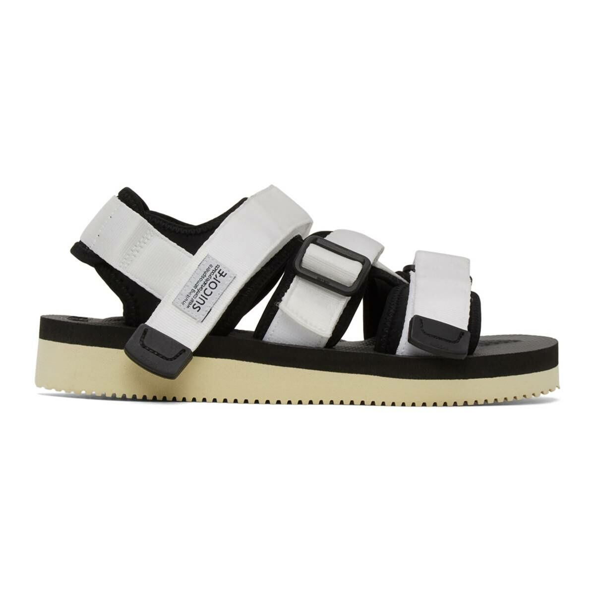 Suicoke White Kisee-V Sandals Ssense USA MEN Men SHOES Mens SANDALS