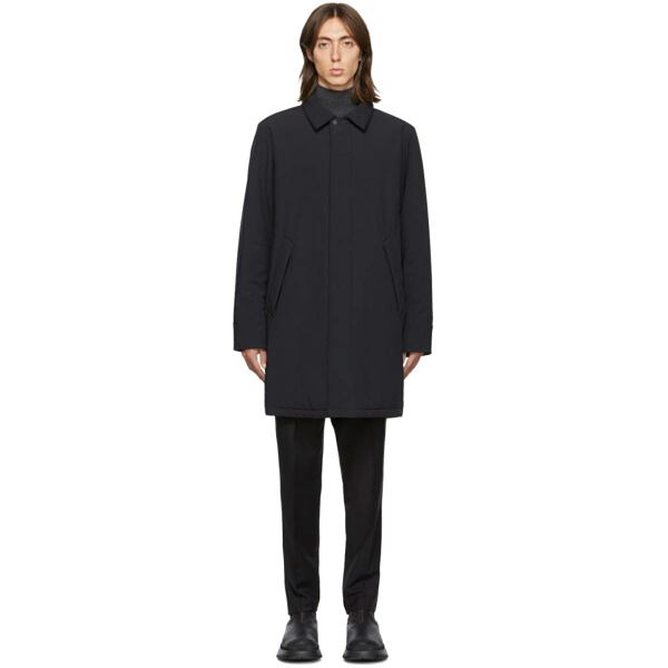 The Very Warm SSENSE Exclusive Black Shell Filled Mac Coat Ssense USA MEN Men FASHION Mens COATS