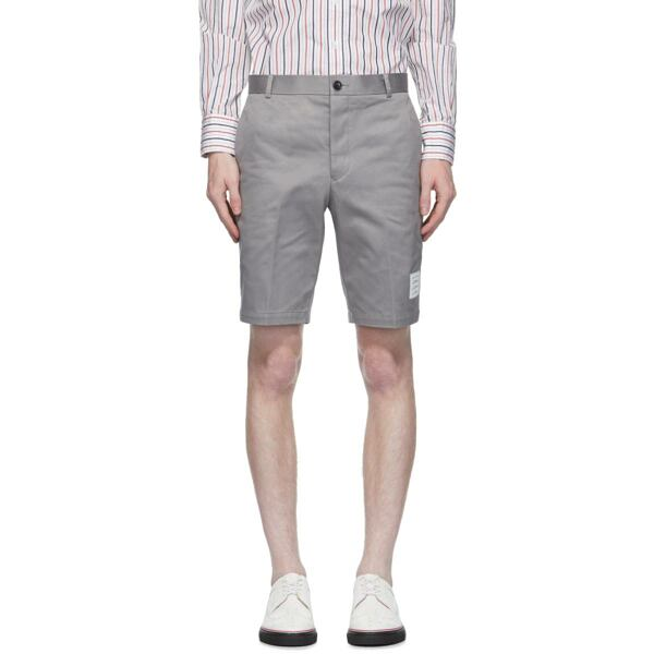 Thom Browne Grey Unconstructed Chino Shorts Ssense USA MEN Men FASHION Mens SHORTS
