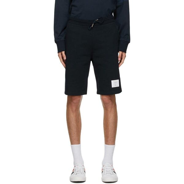 Thom Browne Navy Loopback RWB Sweat Shorts Ssense USA MEN Men FASHION Mens SHORTS