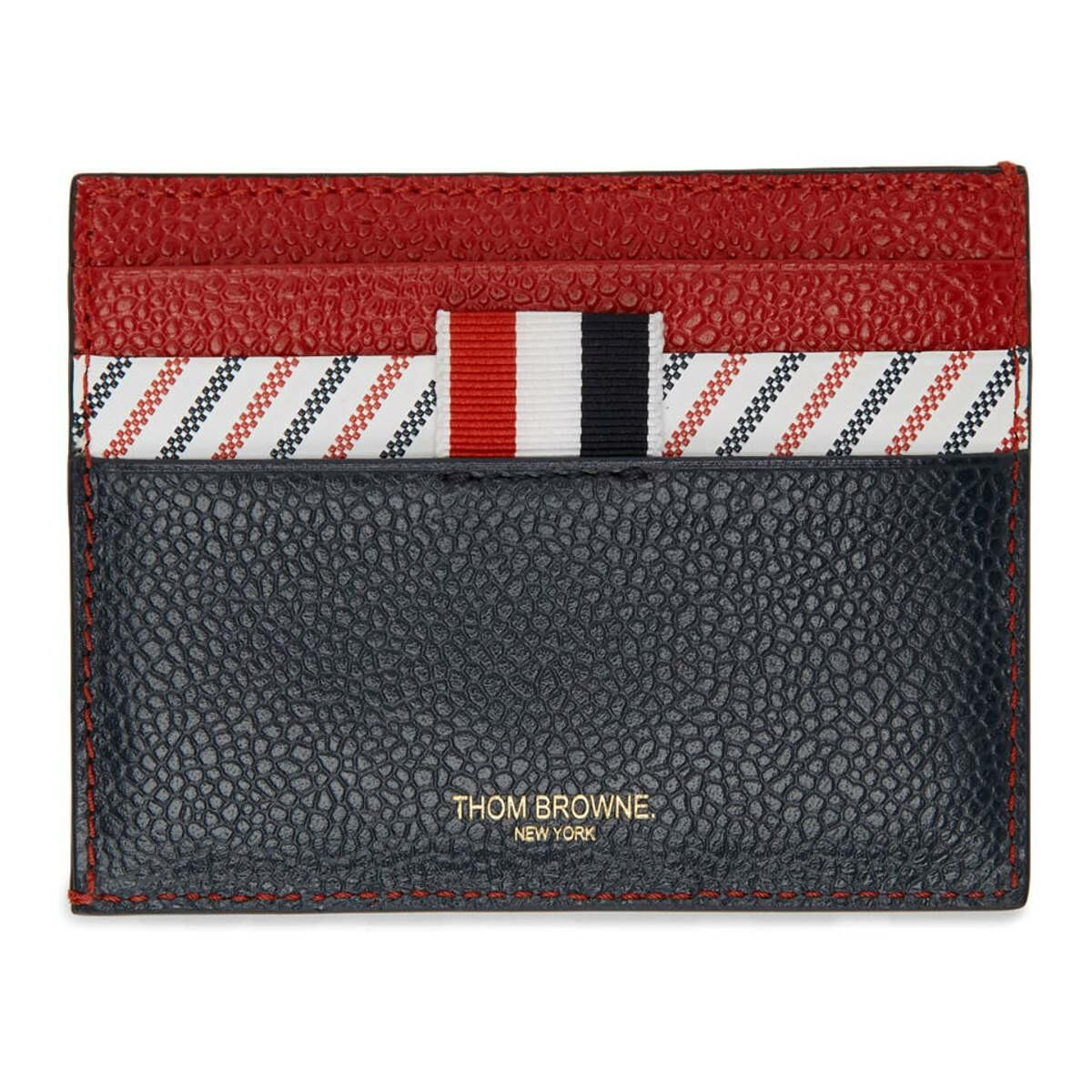 Thom Browne Tricolor Striped Card Holder Ssense USA WOMEN Women ACCESSORIES Womens WALLETS