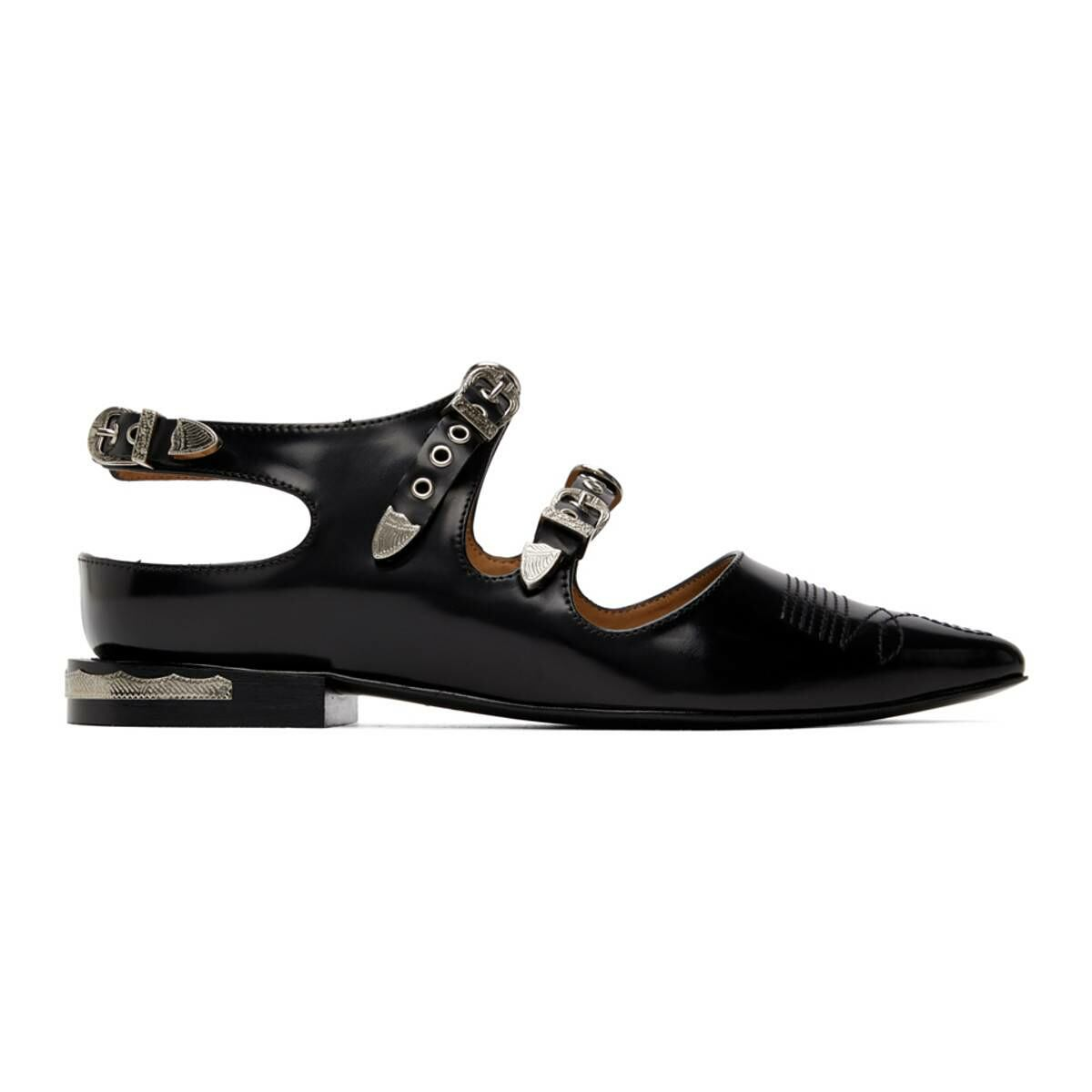 Toga Pulla Black Buckle Oxfords Ssense USA WOMEN Women SHOES Womens LEATHER SHOES