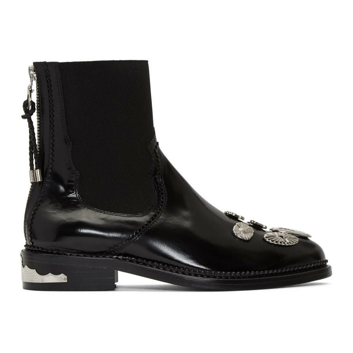 Toga Pulla Black Hardware Boots Ssense USA WOMEN Women SHOES Womens ANKLE BOOTS