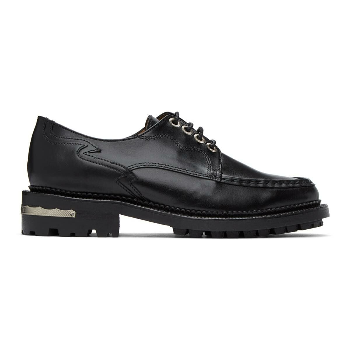 Toga Pulla Black Treaded Lace-Up Derbys Ssense USA WOMEN Women SHOES Womens LEATHER SHOES