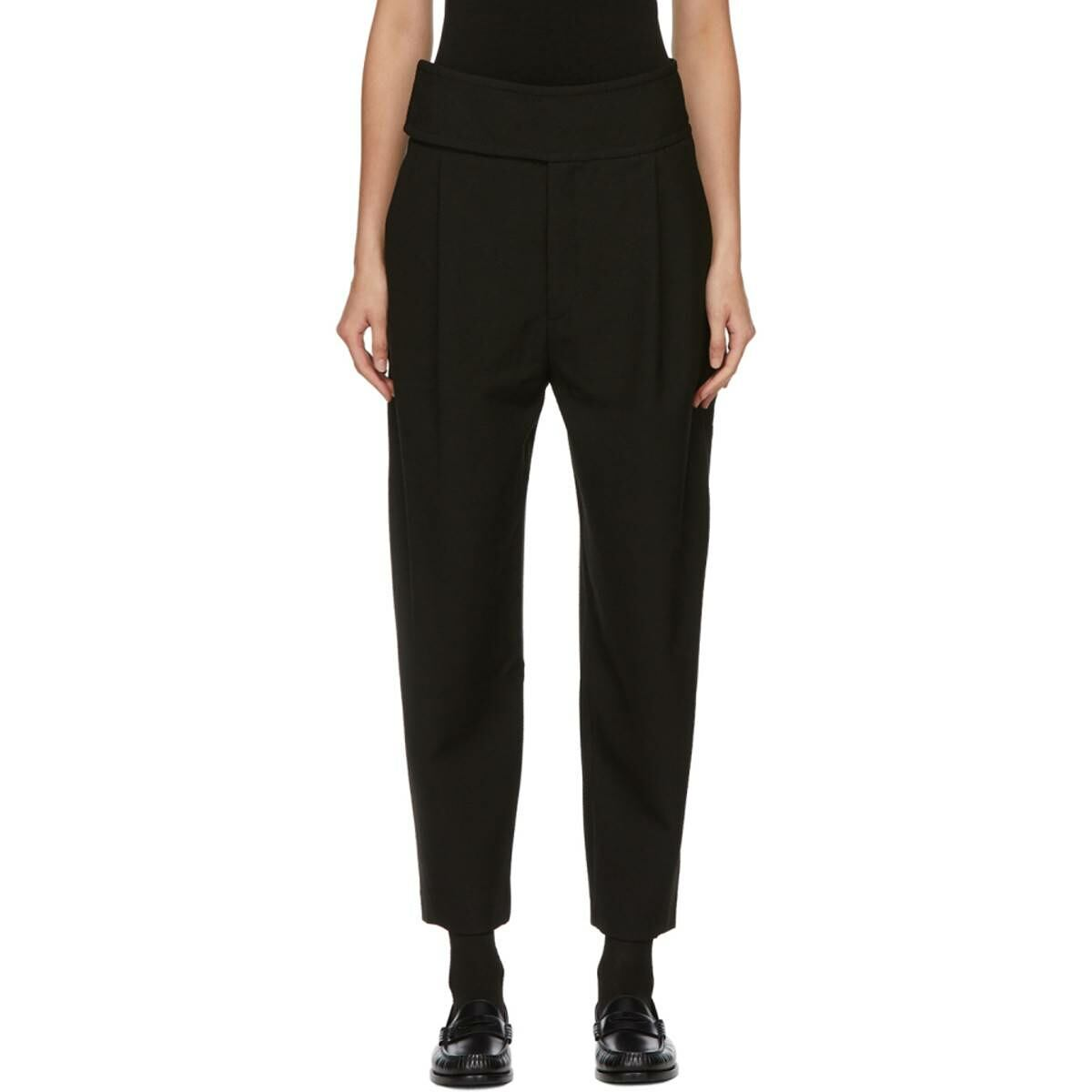 Toteme Black Lombardy Trousers Ssense USA WOMEN Women FASHION Womens TROUSERS