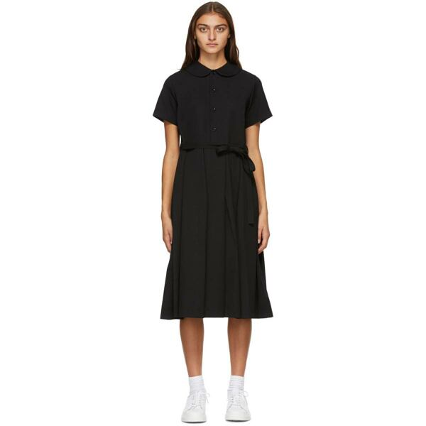 Tricot Comme des Garcons Black Wool Collared Dress Ssense USA WOMEN Women FASHION Womens DRESSES