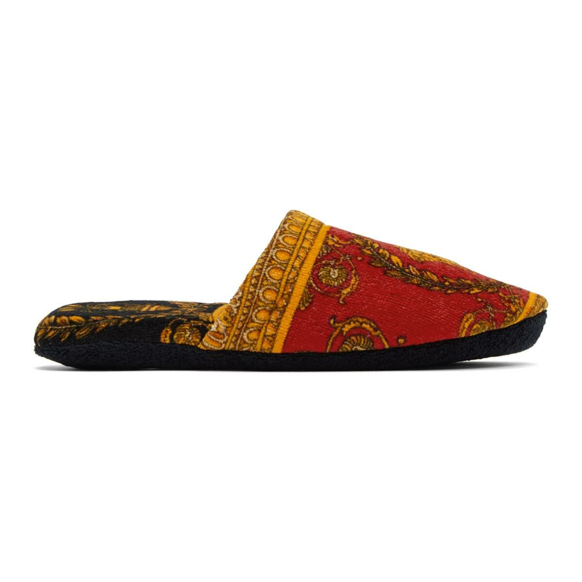 Versace Red Baroque Slippers Ssense USA MEN Men SHOES Mens LOAFERS