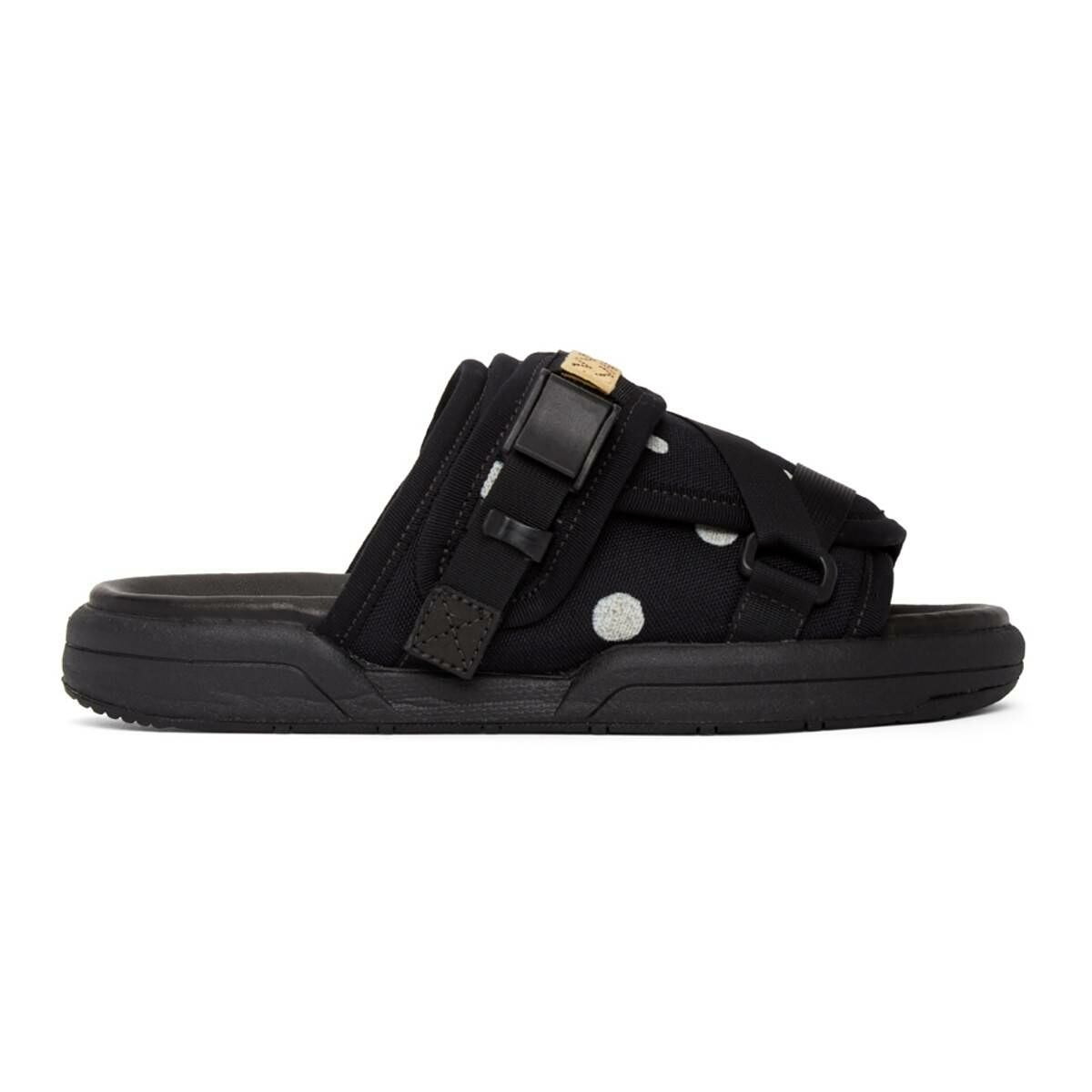 Visvim Black Christo Sandals Ssense USA MEN Men SHOES Mens SANDALS