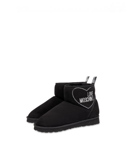 Winter Love Suede Ankle Boots Moschino UK WOMEN Women SHOES Womens ANKLE BOOTS