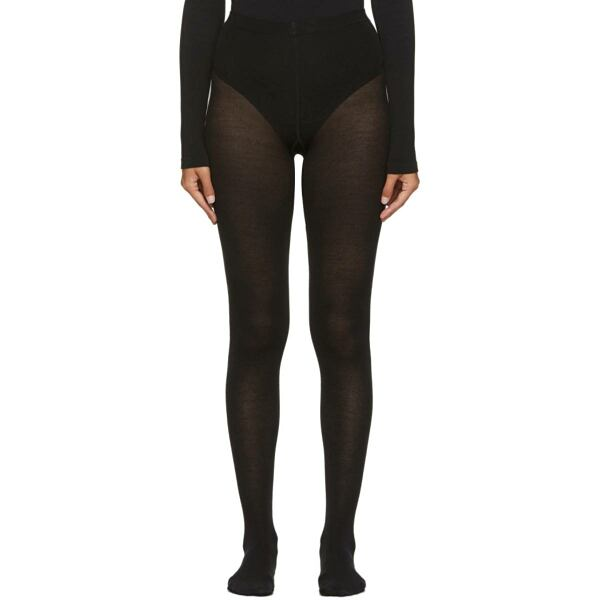 Wolford Black Merino Wool Tights Ssense USA WOMEN Women ACCESSORIES Womens SOCKS