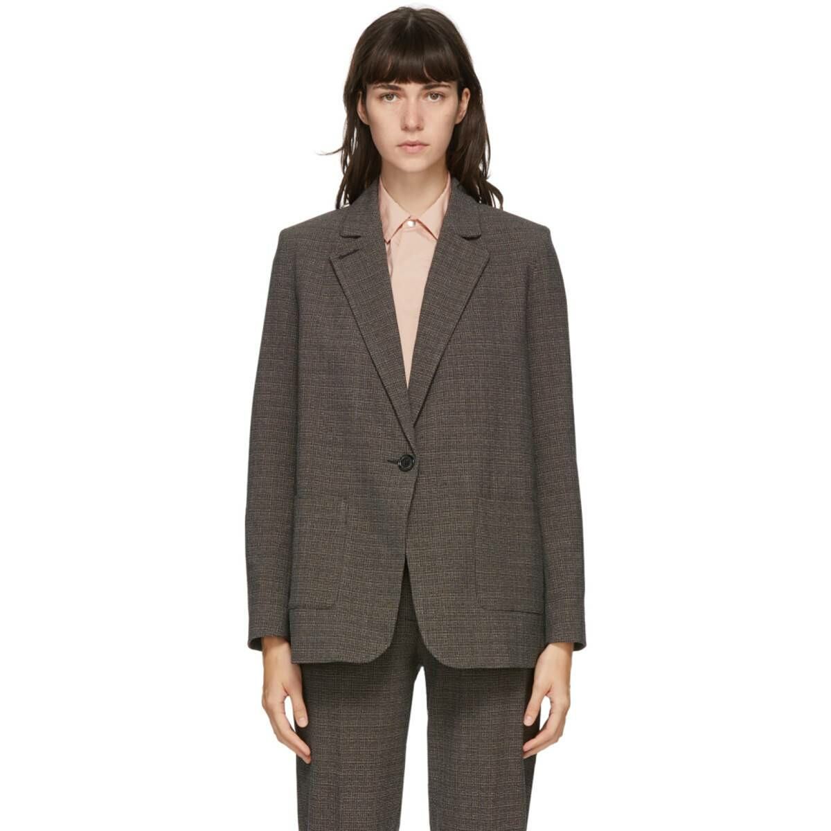 Won Hundred Brown Linda Blazer Ssense USA WOMEN Women FASHION Womens BLAZER
