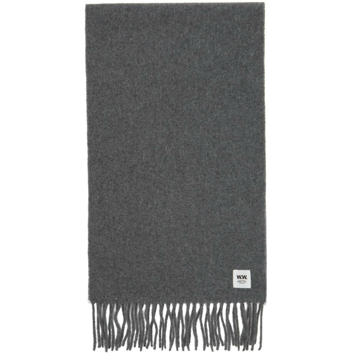 Wood Wood Grey Wool Karlo Scarf Ssense USA MEN Men ACCESSORIES Mens SCARFS