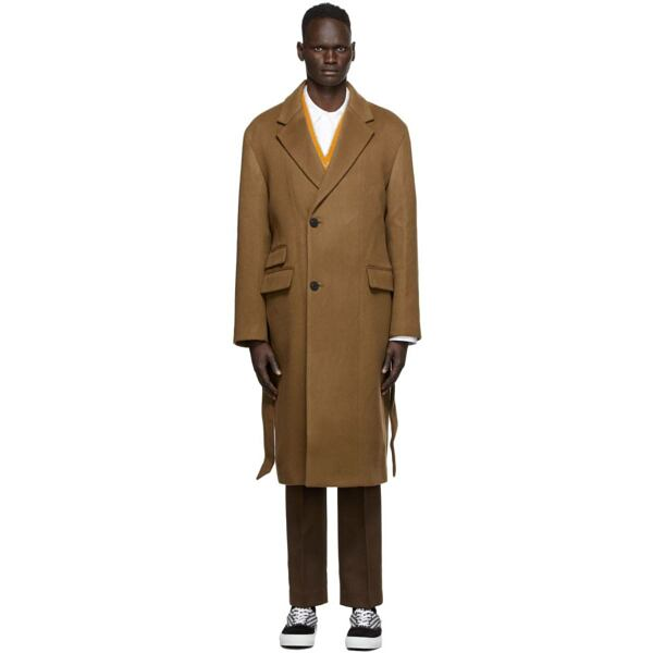 Wooyoungmi Brown Cashmere Coat Ssense USA MEN Men FASHION Mens COATS
