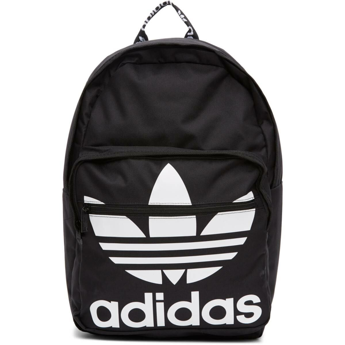 adidas Originals Black Trefoil Backpack Ssense USA MEN Men ACCESSORIES Mens BAGS
