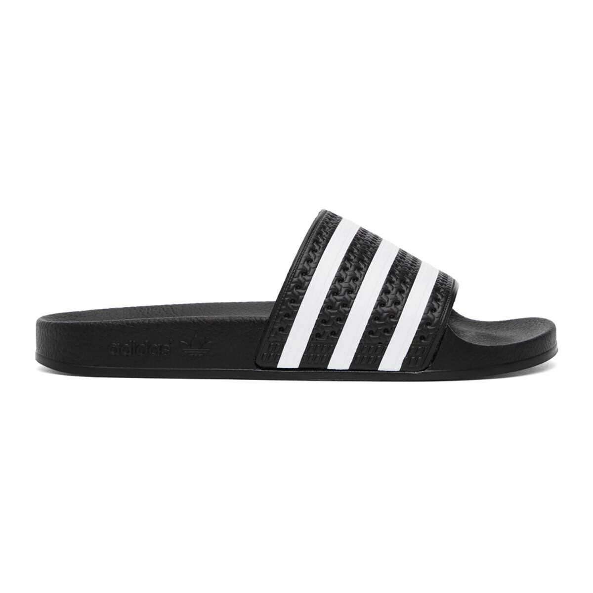 adidas Originals Black and White Adilette Slides Ssense USA MEN Men SHOES Mens SANDALS