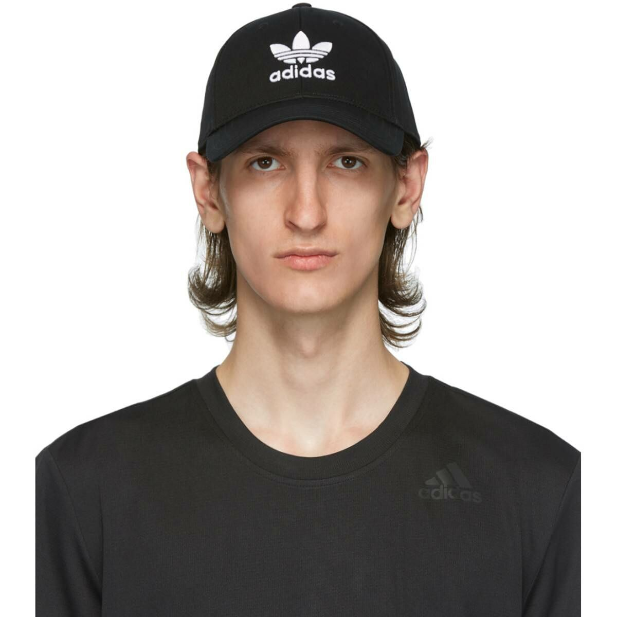 adidas Originals Black and White Trefoil Cap Ssense USA MEN Men ACCESSORIES Mens CAPS