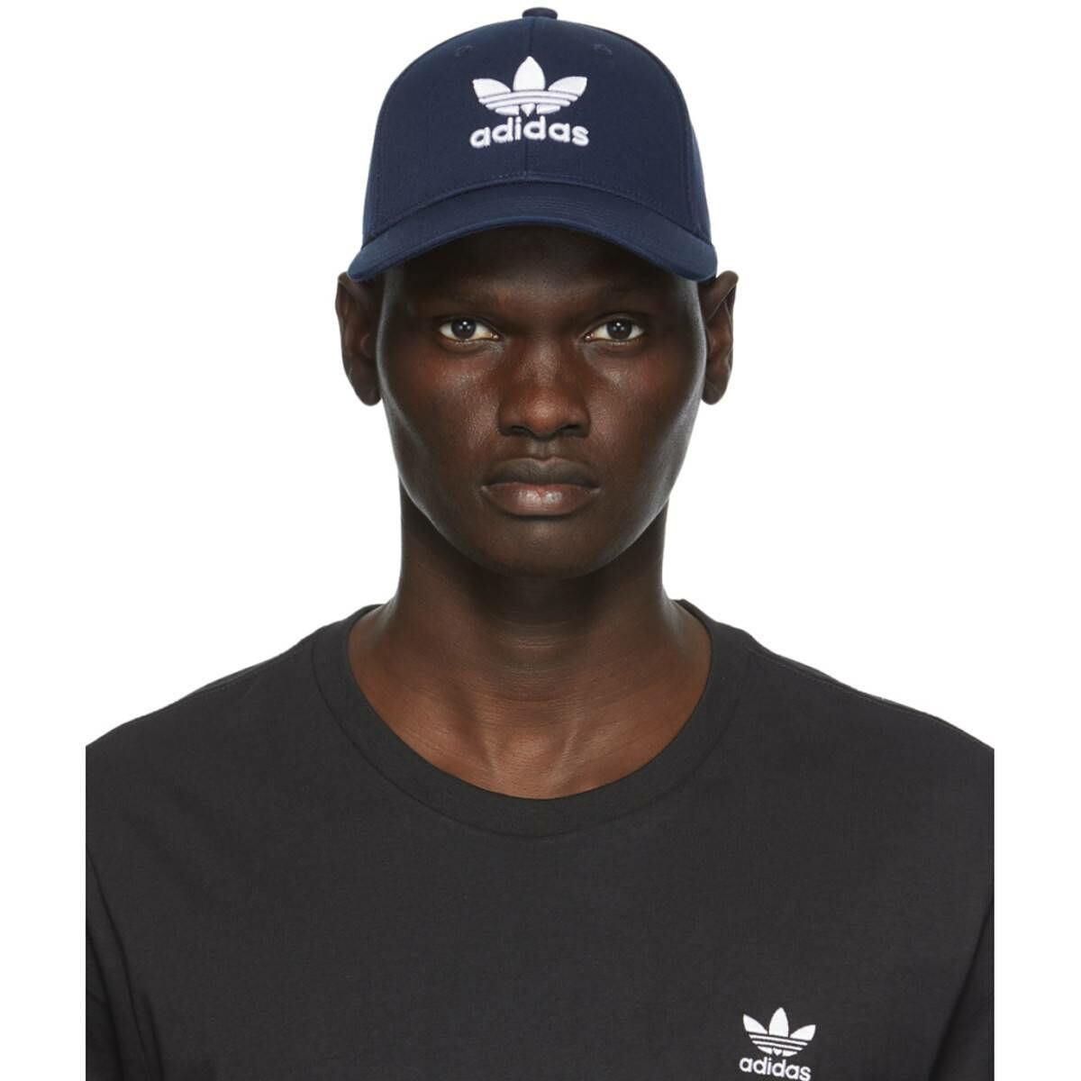 adidas Originals Navy Trefoil Baseball Cap Ssense USA MEN Men ACCESSORIES Mens CAPS