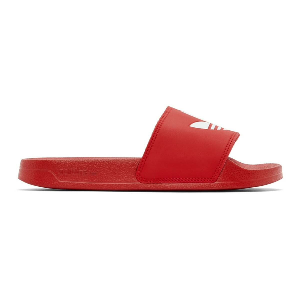 adidas Originals Red Adilette Lite Pool Slides Ssense USA MEN Men SHOES Mens SANDALS