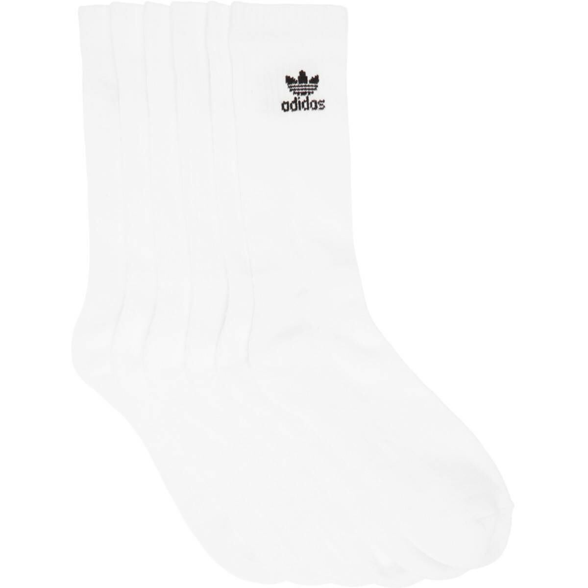 adidas Originals Six-Pack White Solid Crew Socks Ssense USA MEN Men ACCESSORIES Mens SOCKS
