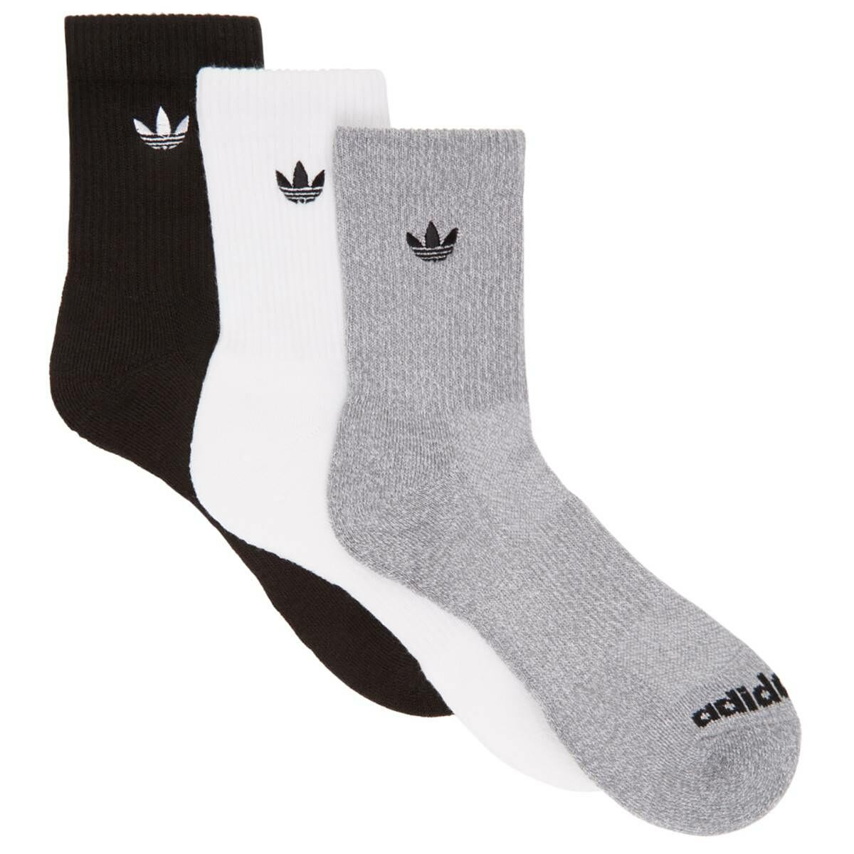 adidas Originals Three-Pack Multicolor Solid Crew Socks Ssense USA MEN Men ACCESSORIES Mens SOCKS
