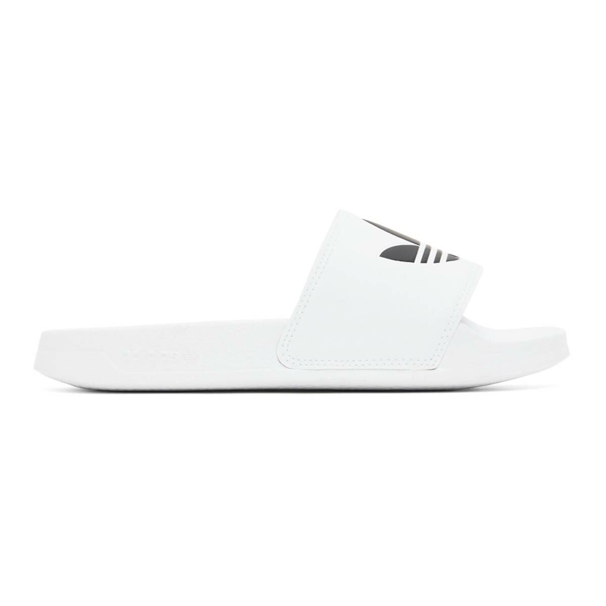 adidas Originals White Adilette Lite Pool Slides Ssense USA MEN Men SHOES Mens SANDALS