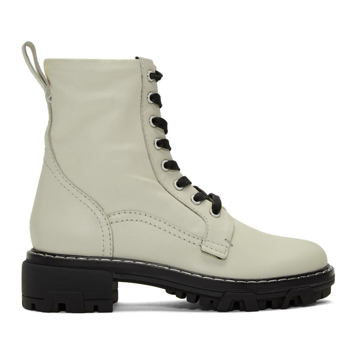 rag and bone Off-White Shiloh Boots Ssense USA WOMEN Women SHOES Womens ANKLE BOOTS