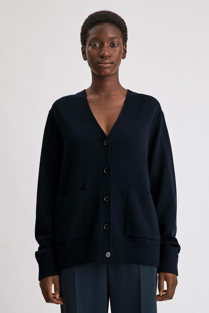 Amelia Cardigan Woman Navy WOMEN