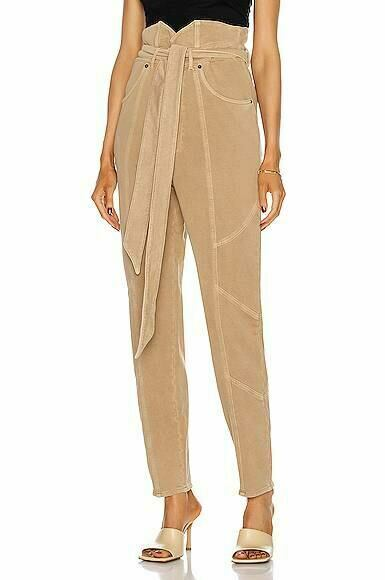 Beige retrofete Washed Terry Pant Forward USA WOMEN
