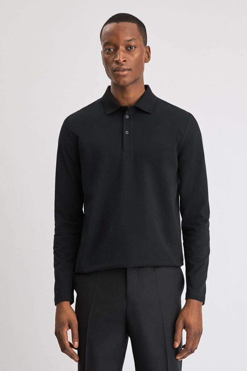 Black Luke Men Lycra Polo Filippa K NO MEN