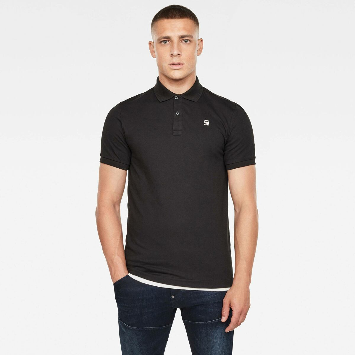 Black Man FW Stack Discount Dunda Slim Polo G-Star MEN