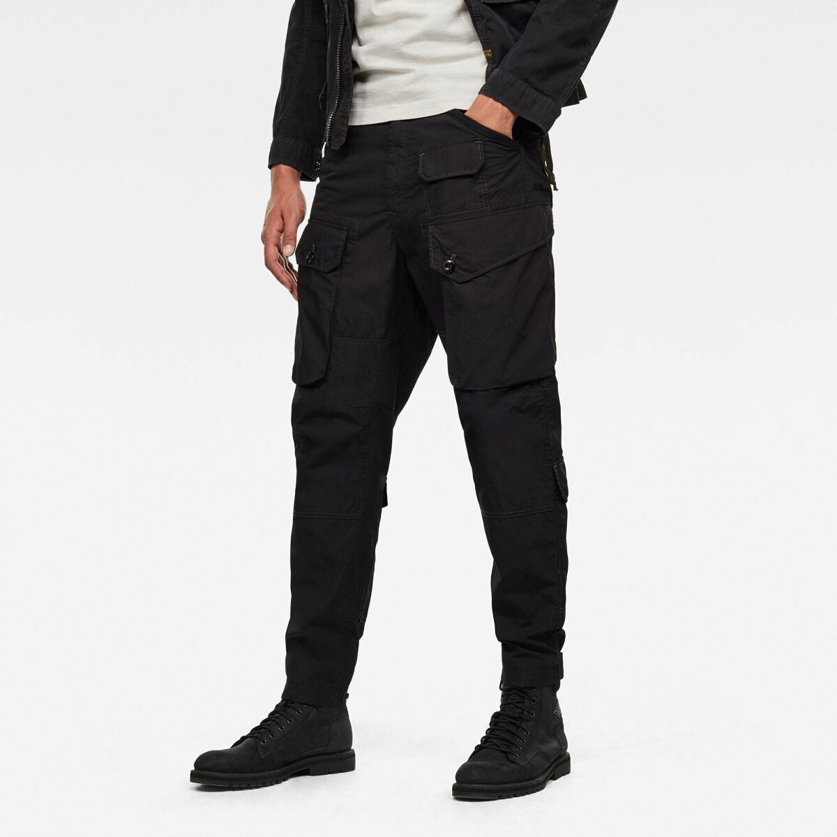 Black Man Pants Jungle Relaxed Tapered Cargo Pants G-Star MEN