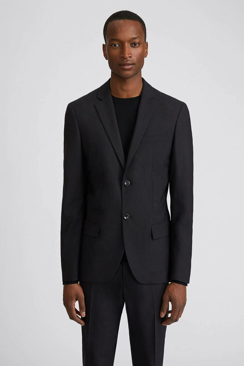 Black Rick Men Wool Jacket Filippa K NO MEN