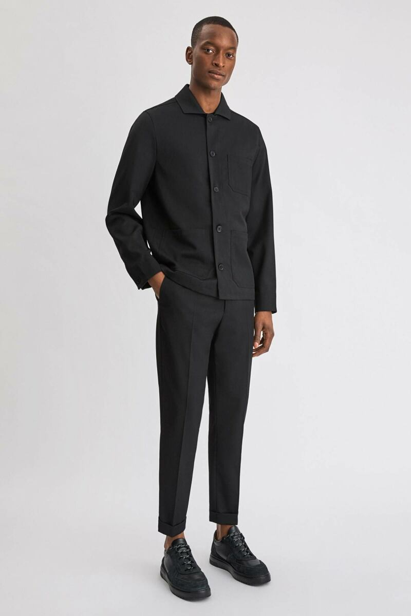 Black Terry Men Cropped Trouser Filippa K NO MEN