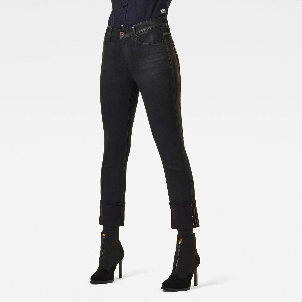 Black Woman Jeans Noxer High Straight Jeans G-Star WOMEN