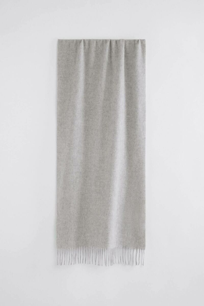 Cashmere Blend Woman Scarf Light Grey Melange WOMEN