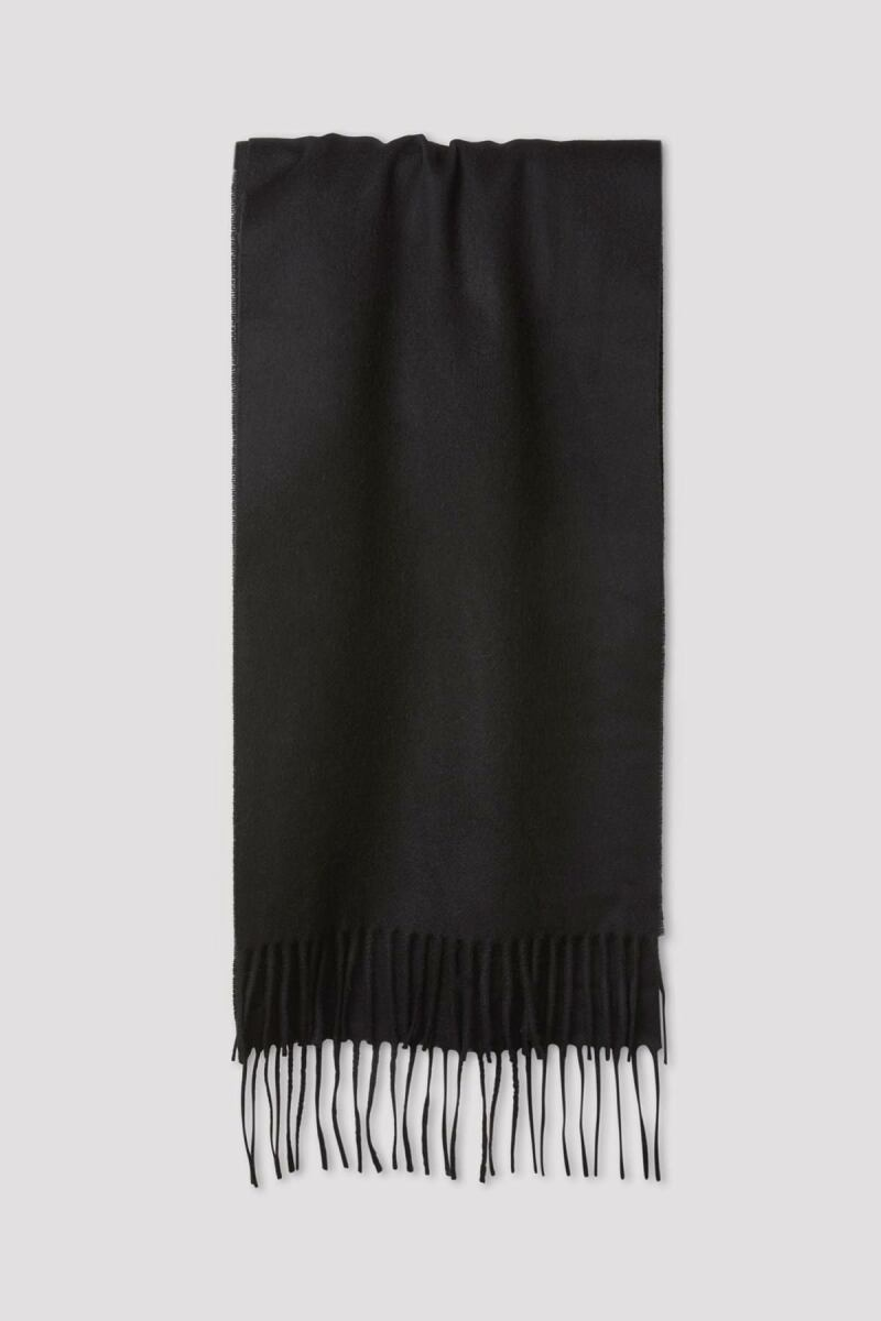 Cashmere Scarf Man Black MEN