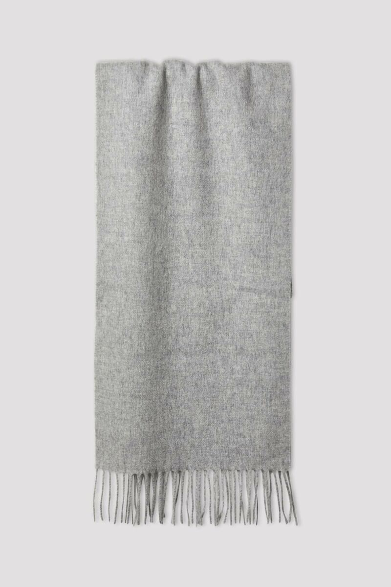Cashmere Scarf Man Light Grey Melange MEN