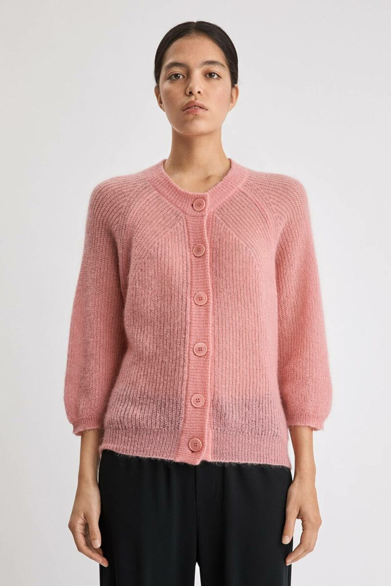 Charlotte Cardigan Woman Taffy Pink WOMEN