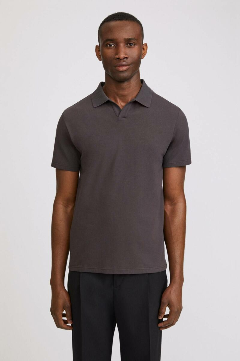 Dark Mole Lycra Men Polo T-Shirt Filippa K NO MEN