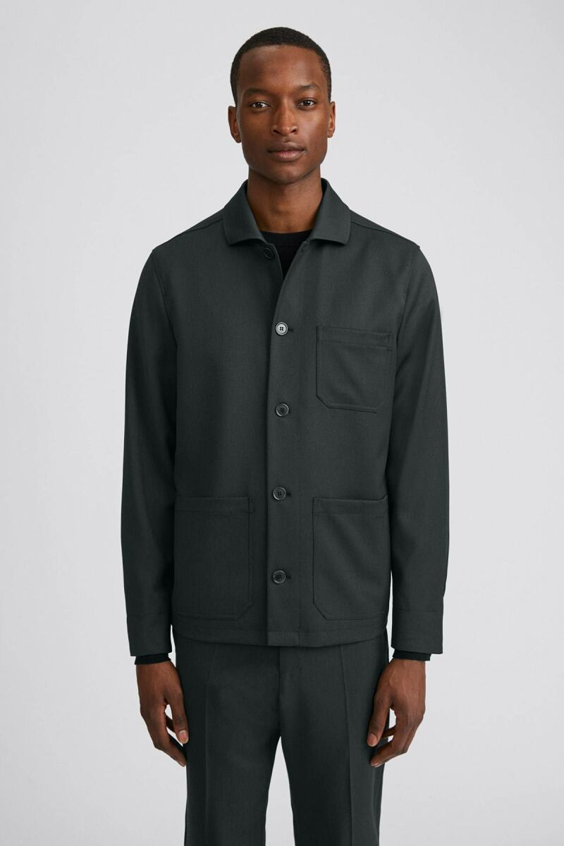 Dark Spruce Louis Men Gabardine Jacket Filippa K NO MEN