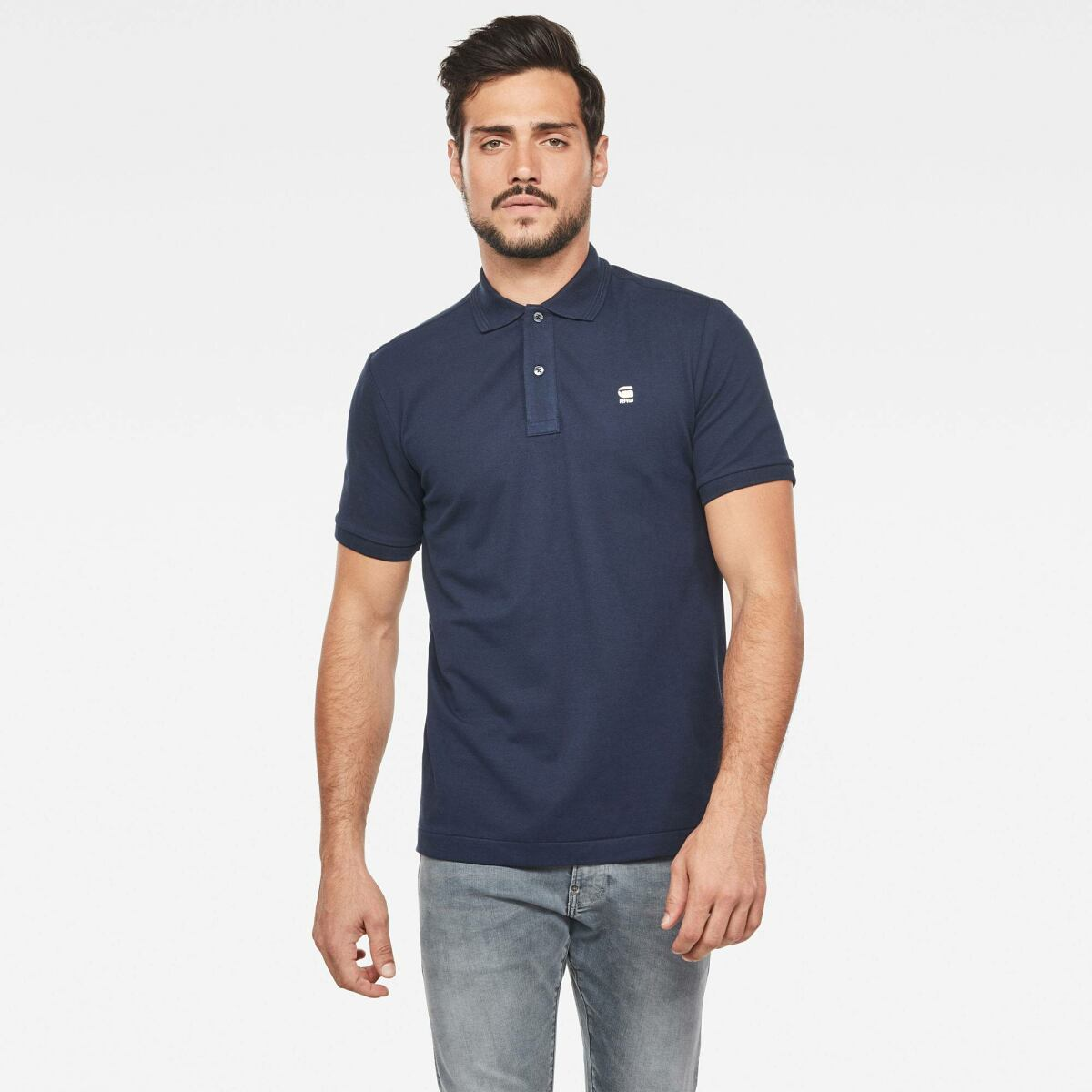 Dark blue Man FW Stack Discount Dunda Slim Polo G-Star MEN